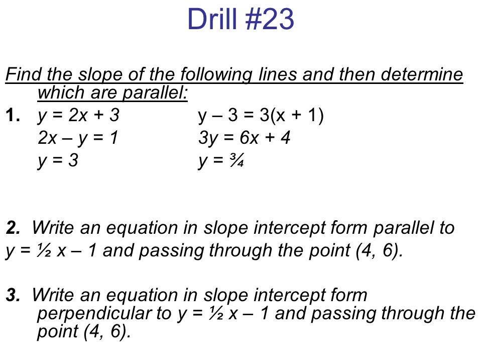 Drill 19 Determine The Value Of R So That A Line Through The Points