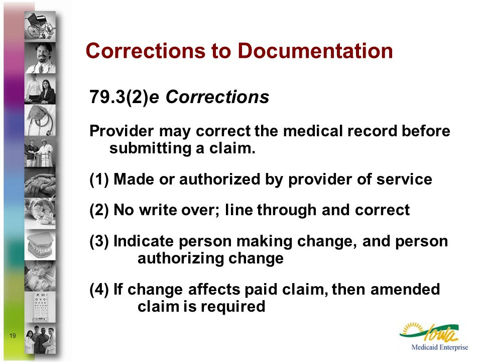 Corrections to Documentation
