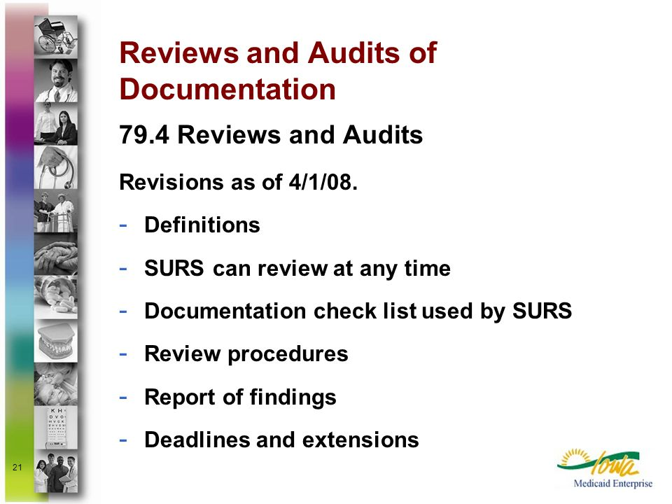 Reviews and Audits of Documentation
