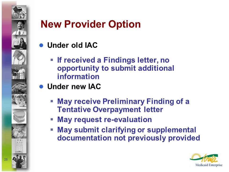 New Provider Option Under old IAC