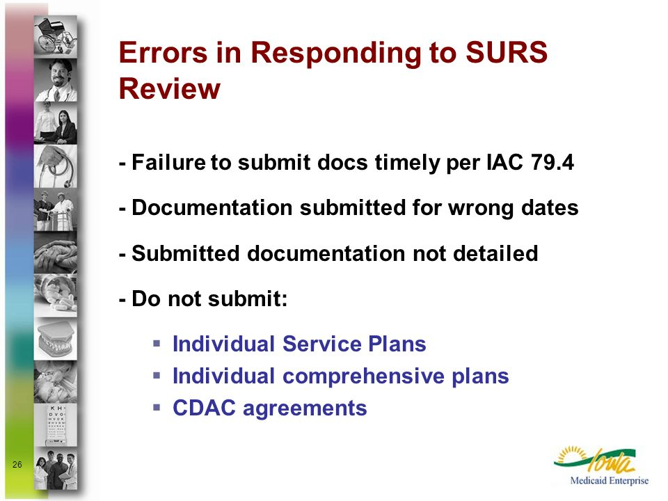 Errors in Responding to SURS Review