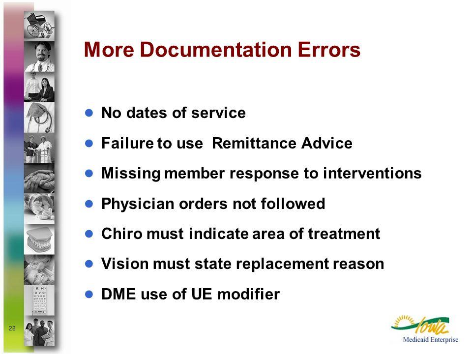 More Documentation Errors