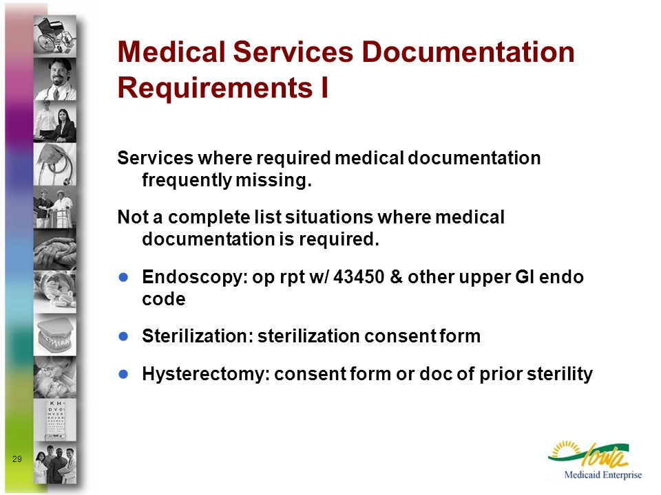 Medical Services Documentation Requirements I