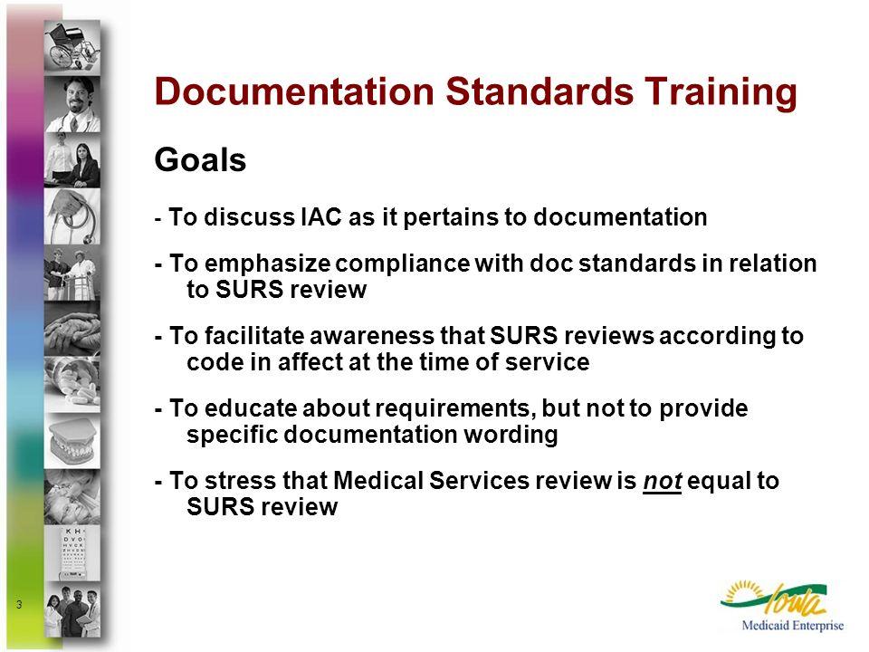 Documentation Standards Training
