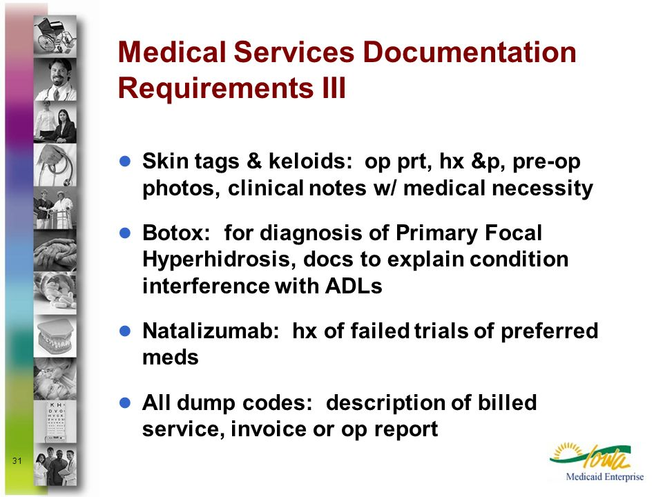 Medical Services Documentation Requirements III
