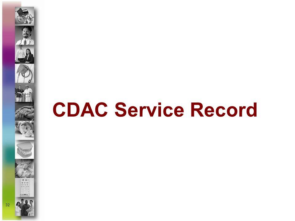 CDAC Service Record