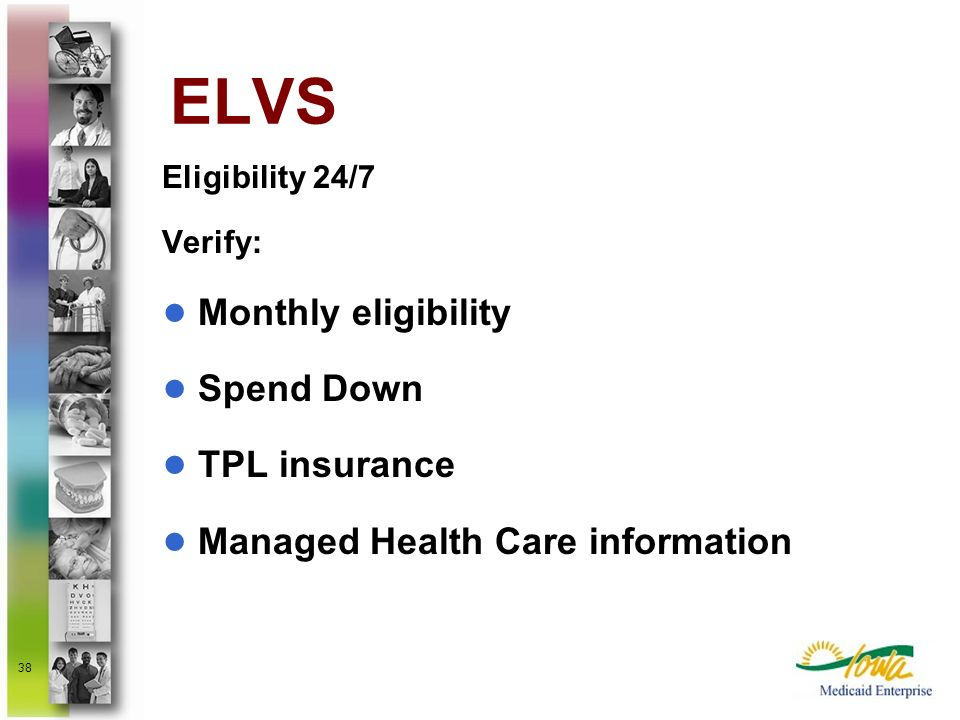 ELVS Monthly eligibility Spend Down TPL insurance