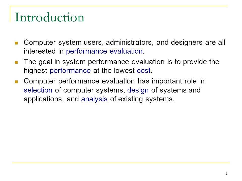 an introduction to the analysis of computer systems How effective managers use information systems  while there are many ways to categorize computer systems,  analysis systems and model-oriented systems help.