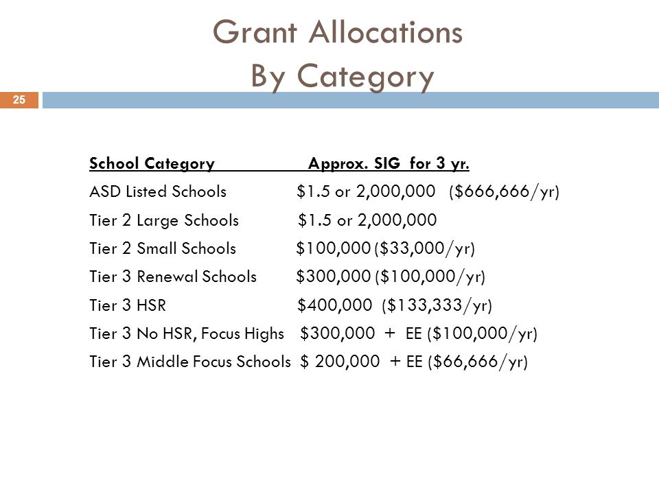 Grant Allocations By Category