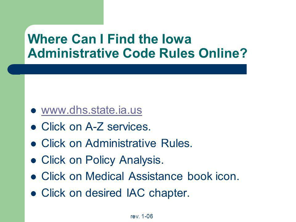 Where Can I Find the Iowa Administrative Code Rules Online