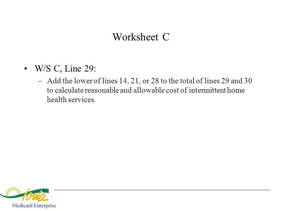 Worksheet C W/S C, Line 29: