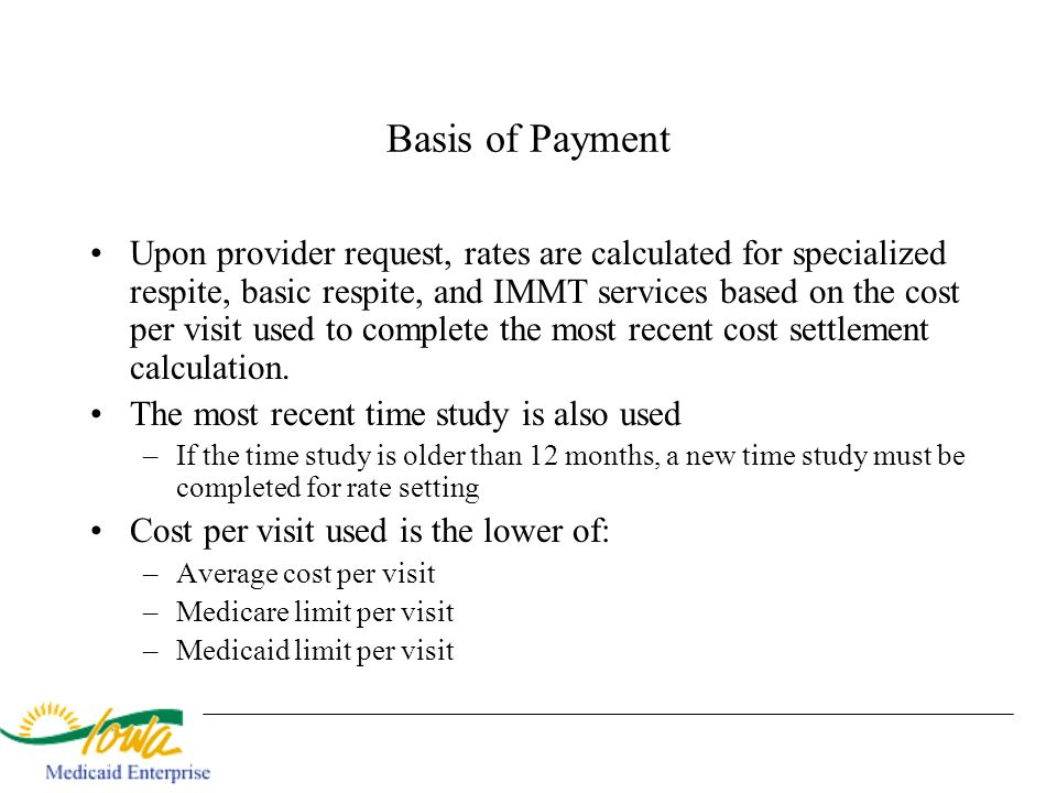 Basis of Payment