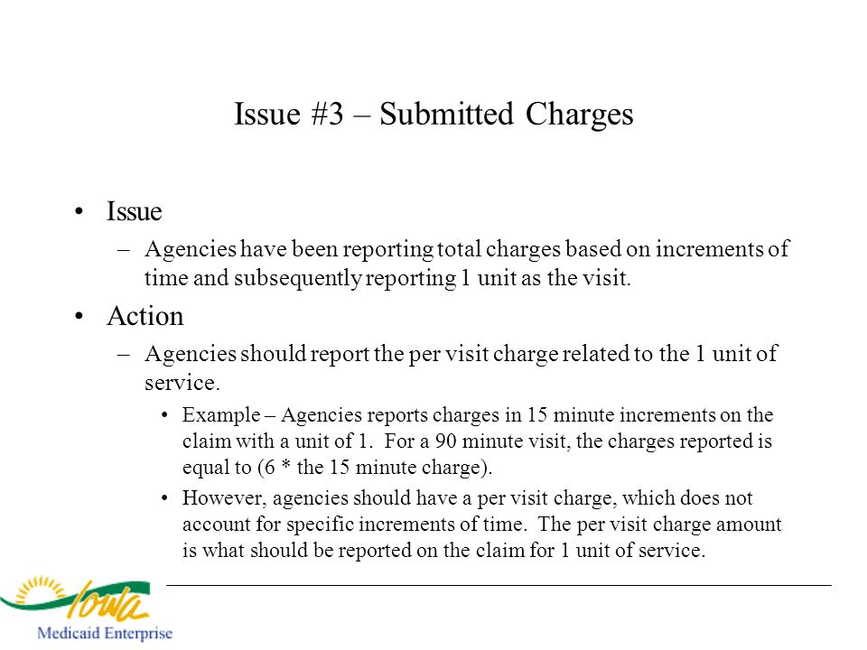 Issue #3 – Submitted Charges