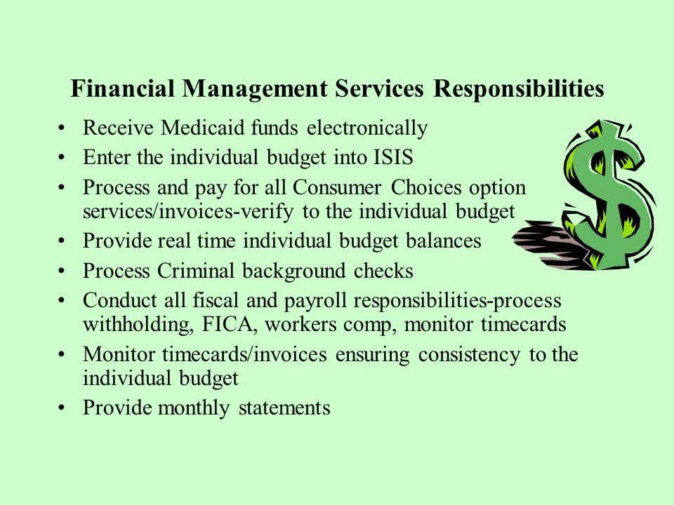 Financial Management Services Responsibilities
