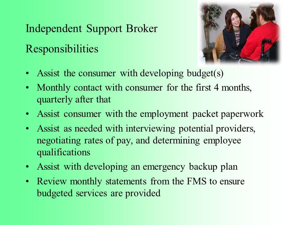 Independent Support Broker Responsibilities