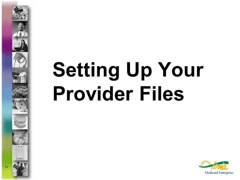Setting Up Your Provider Files