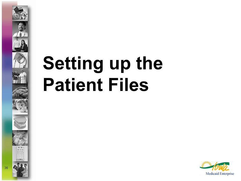 Setting up the Patient Files