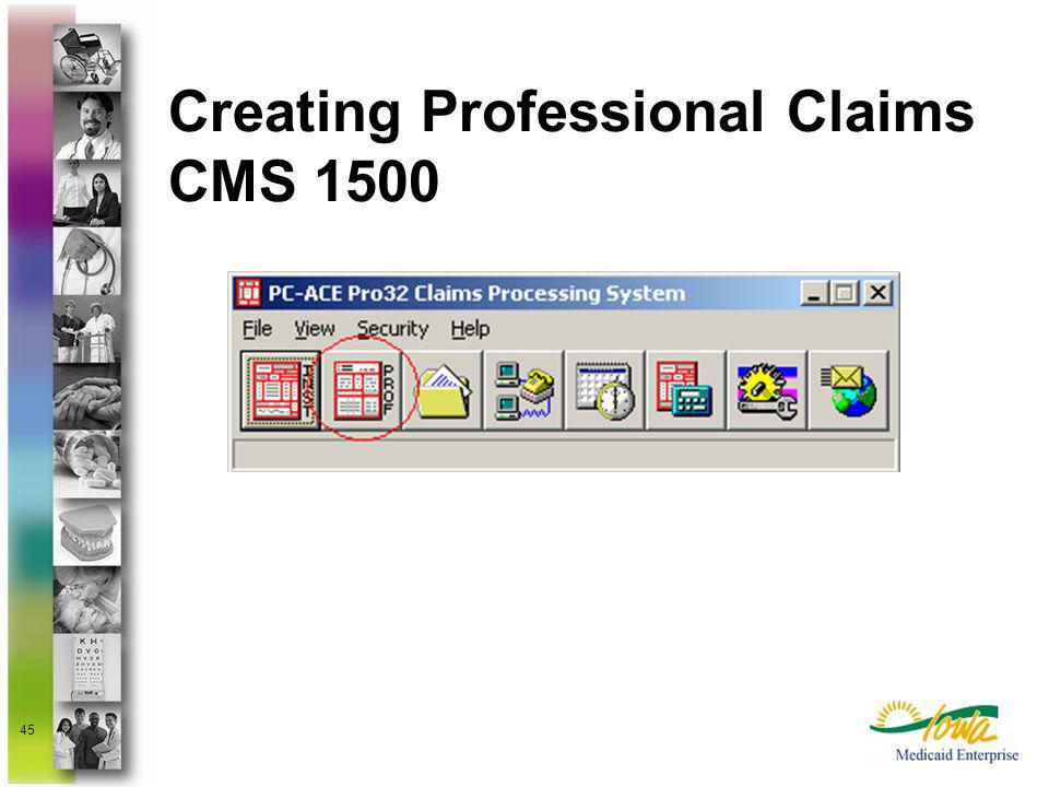 Creating Professional Claims CMS 1500