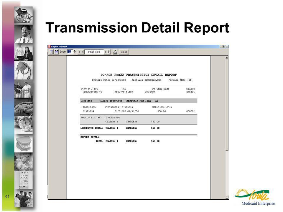 Transmission Detail Report