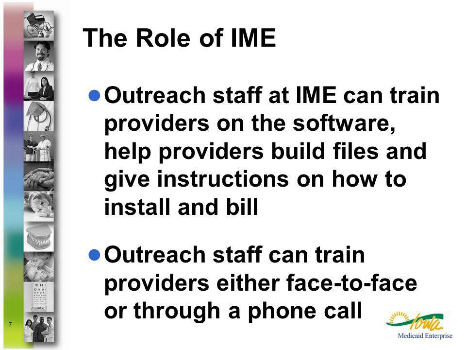 The Role of IME