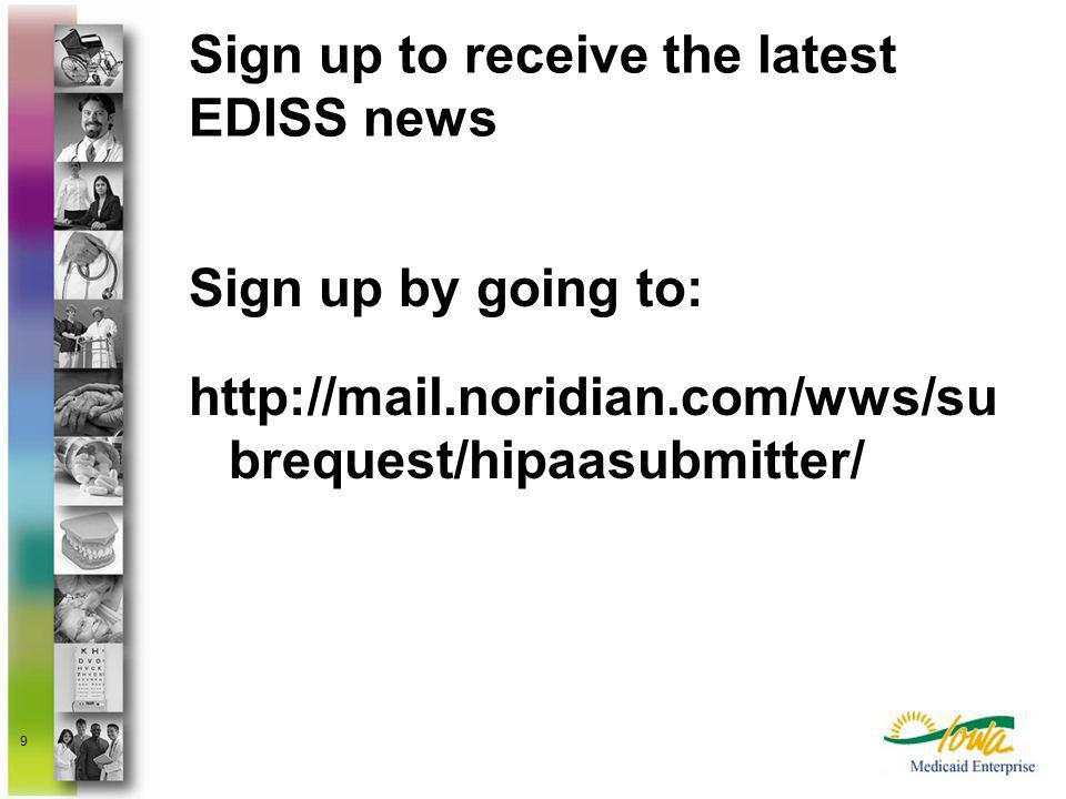 Sign up to receive the latest EDISS news