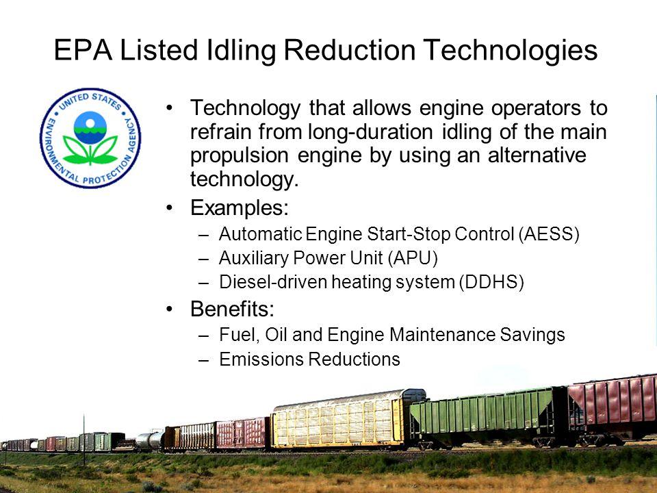 EPA Listed Idling Reduction Technologies