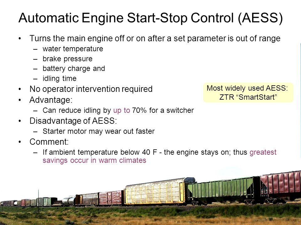 Automatic Engine Start-Stop Control (AESS)