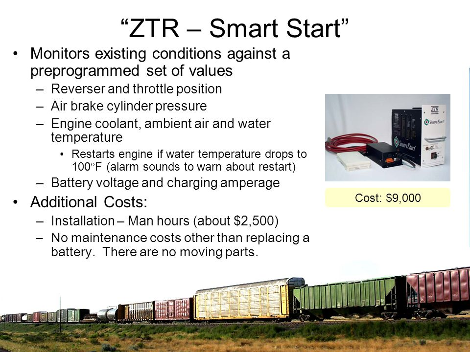 ZTR – Smart Start Monitors existing conditions against a preprogrammed set of values. Reverser and throttle position.
