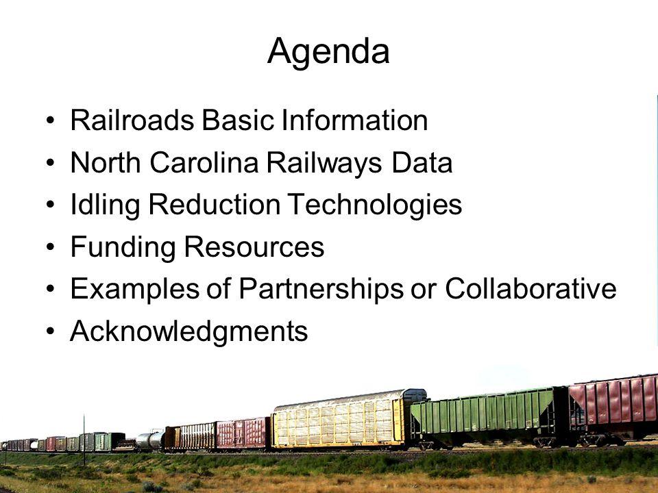 Agenda Railroads Basic Information North Carolina Railways Data