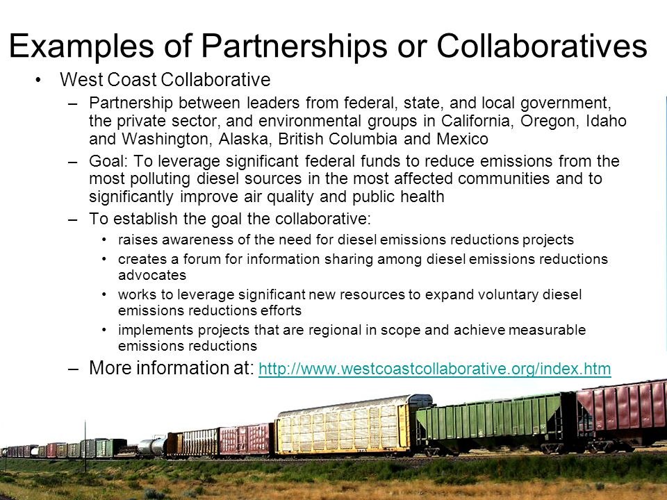 Examples of Partnerships or Collaboratives