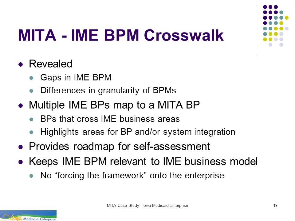 MITA - IME BPM Crosswalk