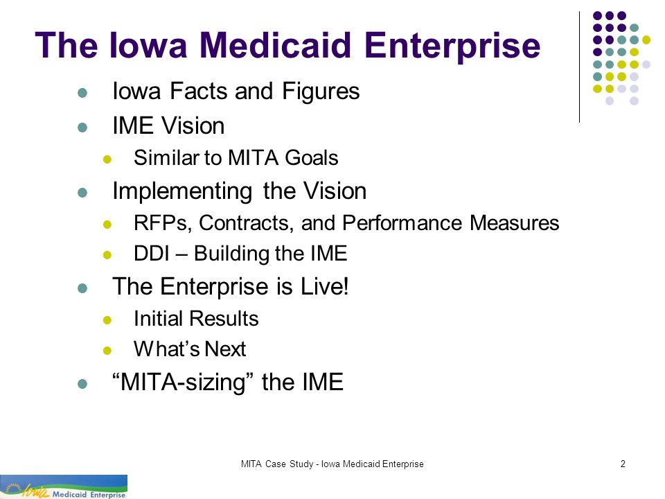 The Iowa Medicaid Enterprise