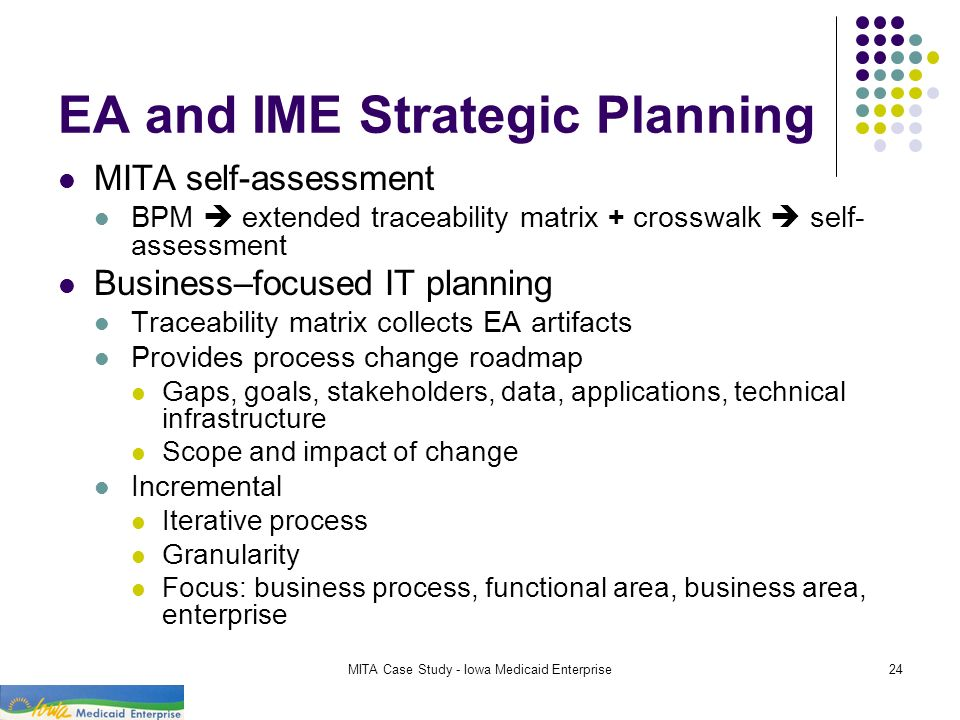 EA and IME Strategic Planning