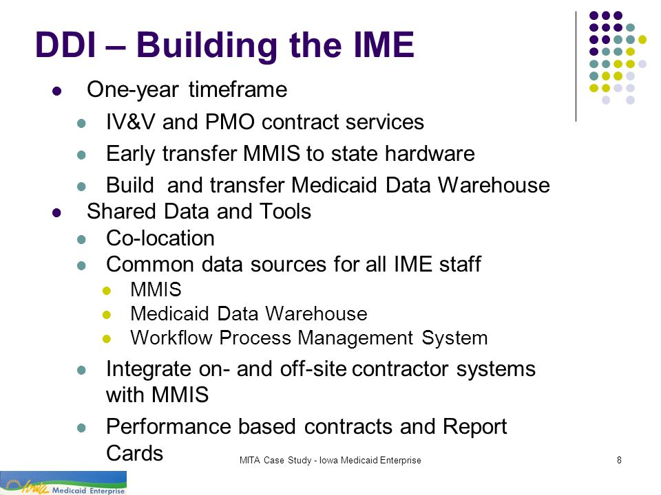 MITA Case Study - Iowa Medicaid Enterprise