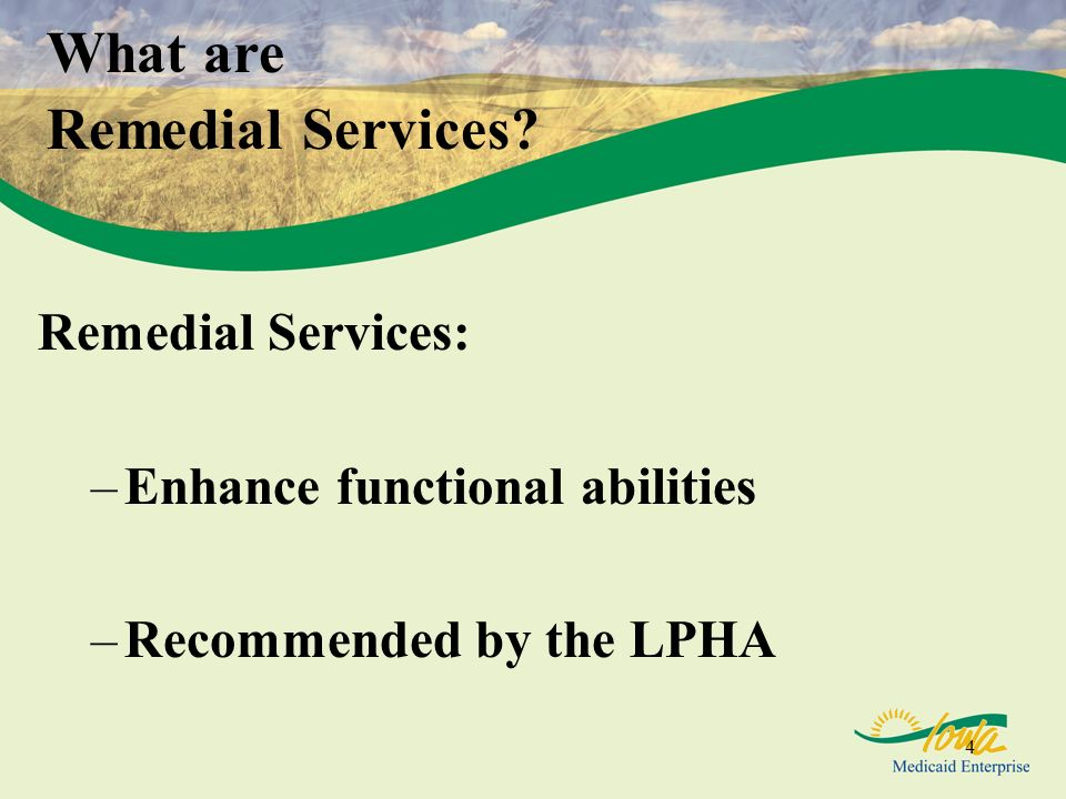 What are Remedial Services