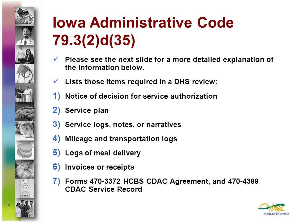 Iowa Administrative Code 79.3(2)d(35)