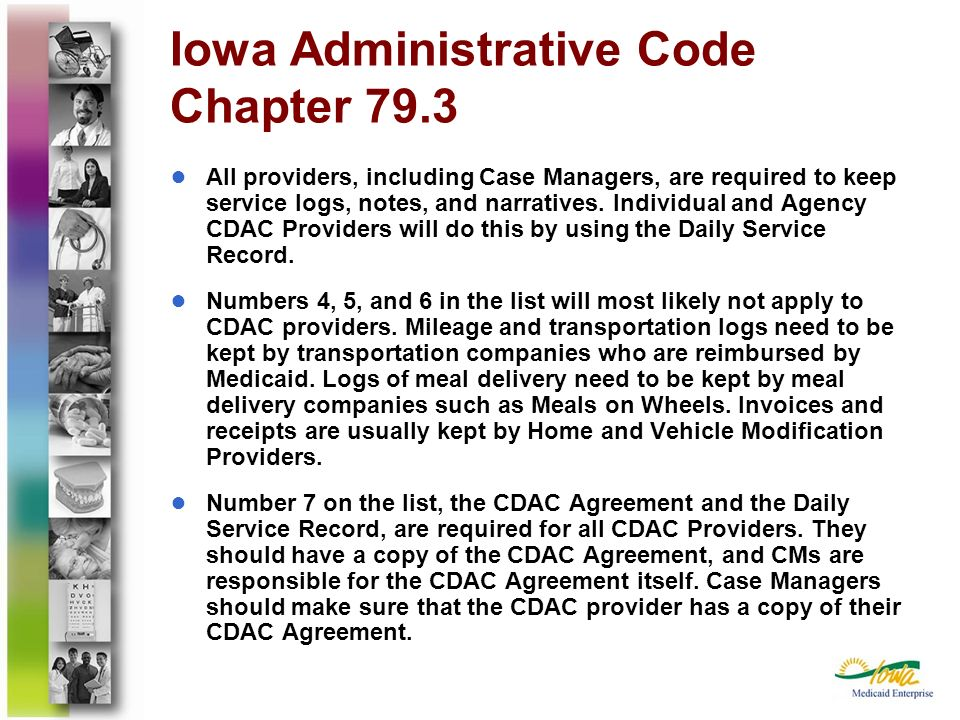 Iowa Administrative Code Chapter 79.3