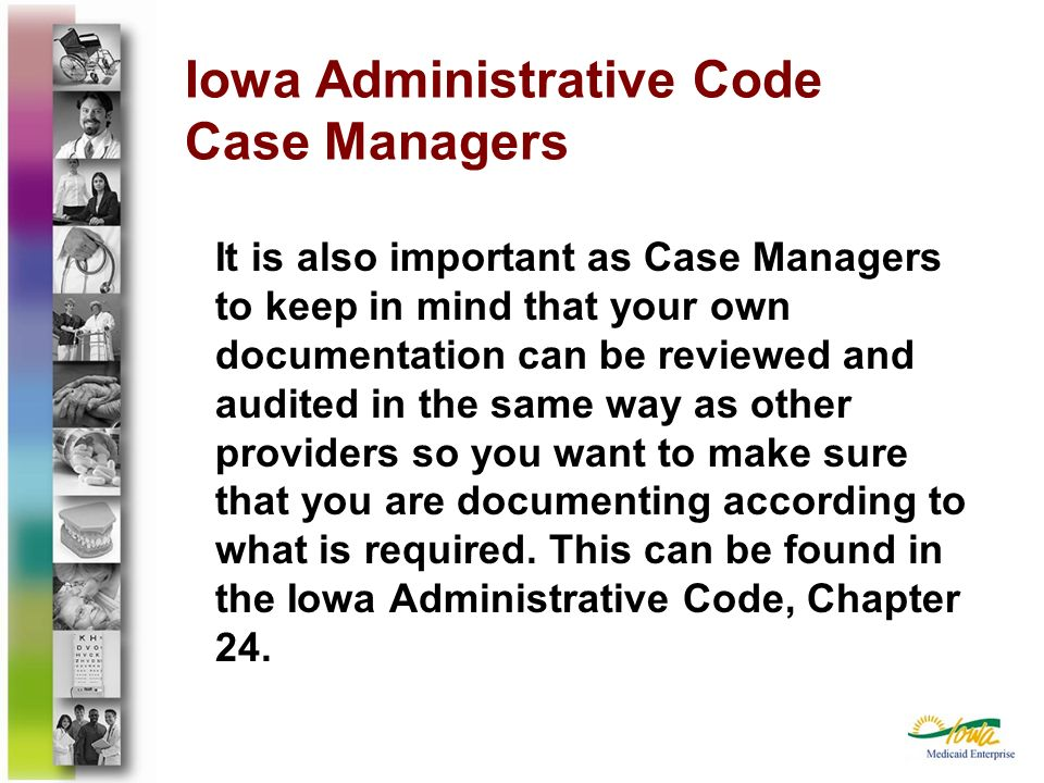 Iowa Administrative Code Case Managers