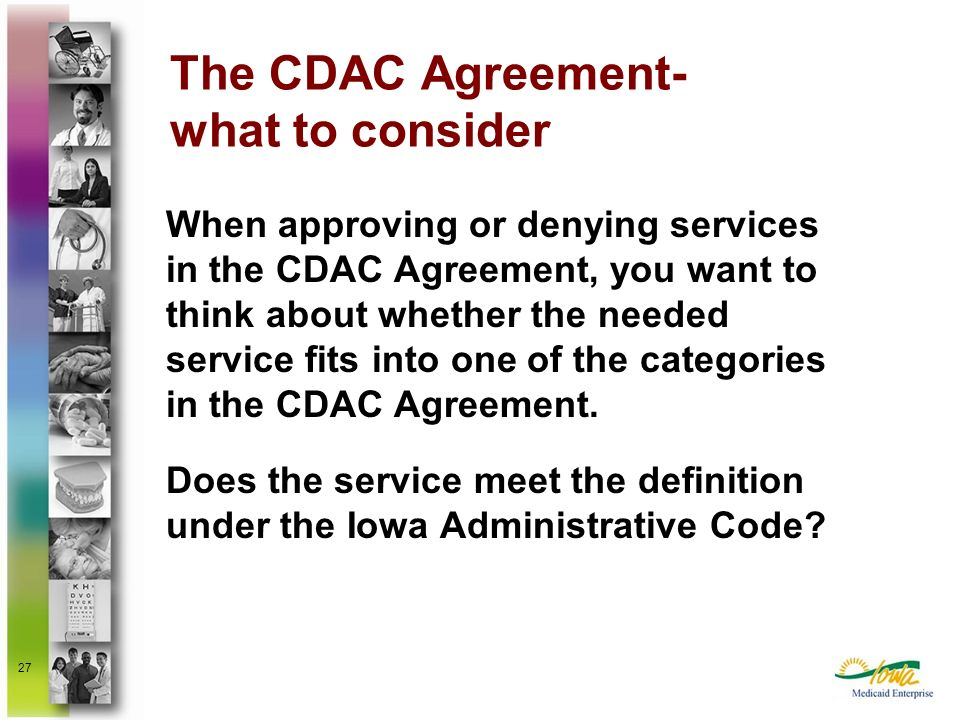 The CDAC Agreement- what to consider