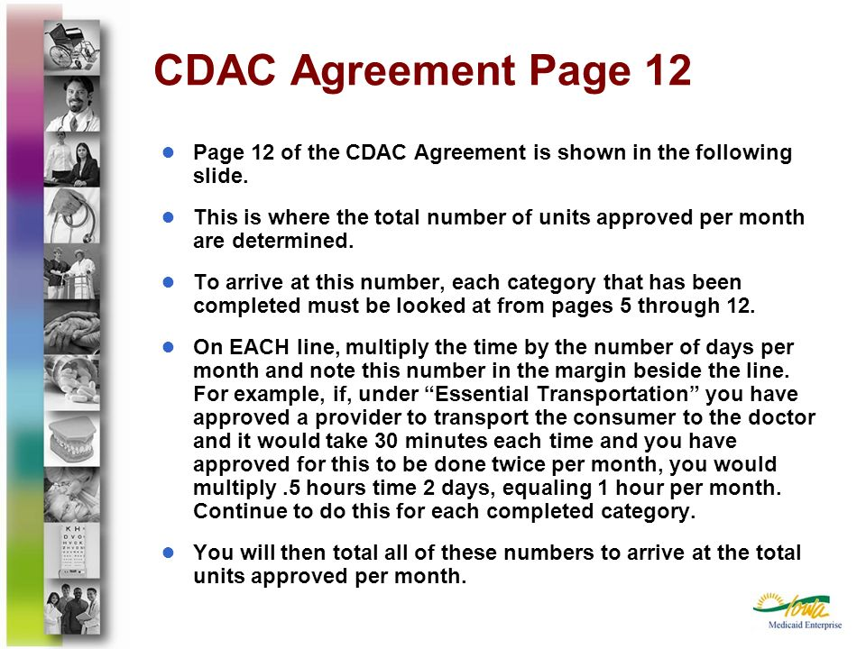CDAC Agreement Page 12Page 12 of the CDAC Agreement is shown in the following slide.