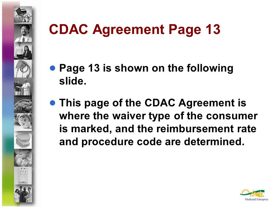 CDAC Agreement Page 13 Page 13 is shown on the following slide.