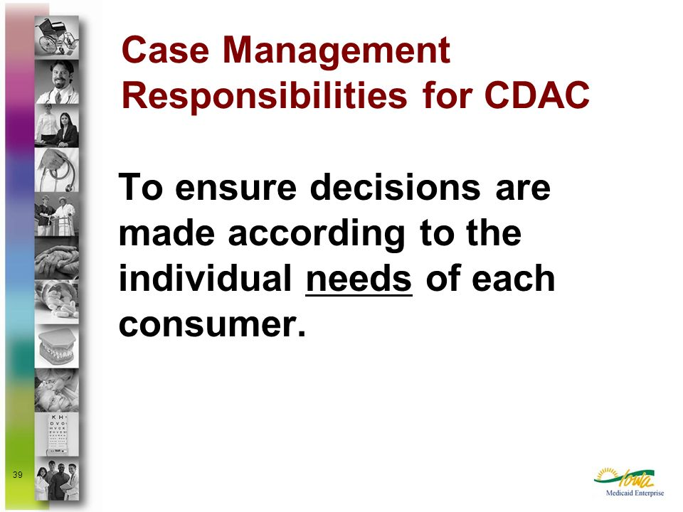 Case Management Responsibilities for CDAC