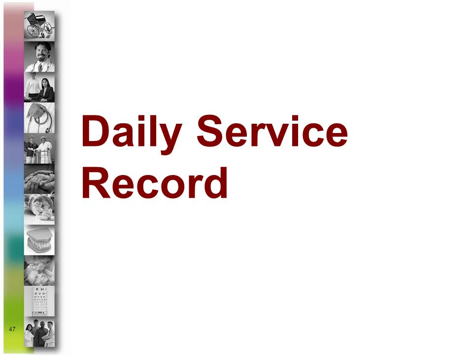 Daily Service Record