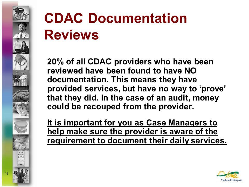 CDAC Documentation Reviews