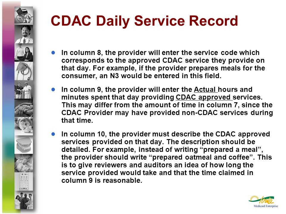 CDAC Daily Service Record
