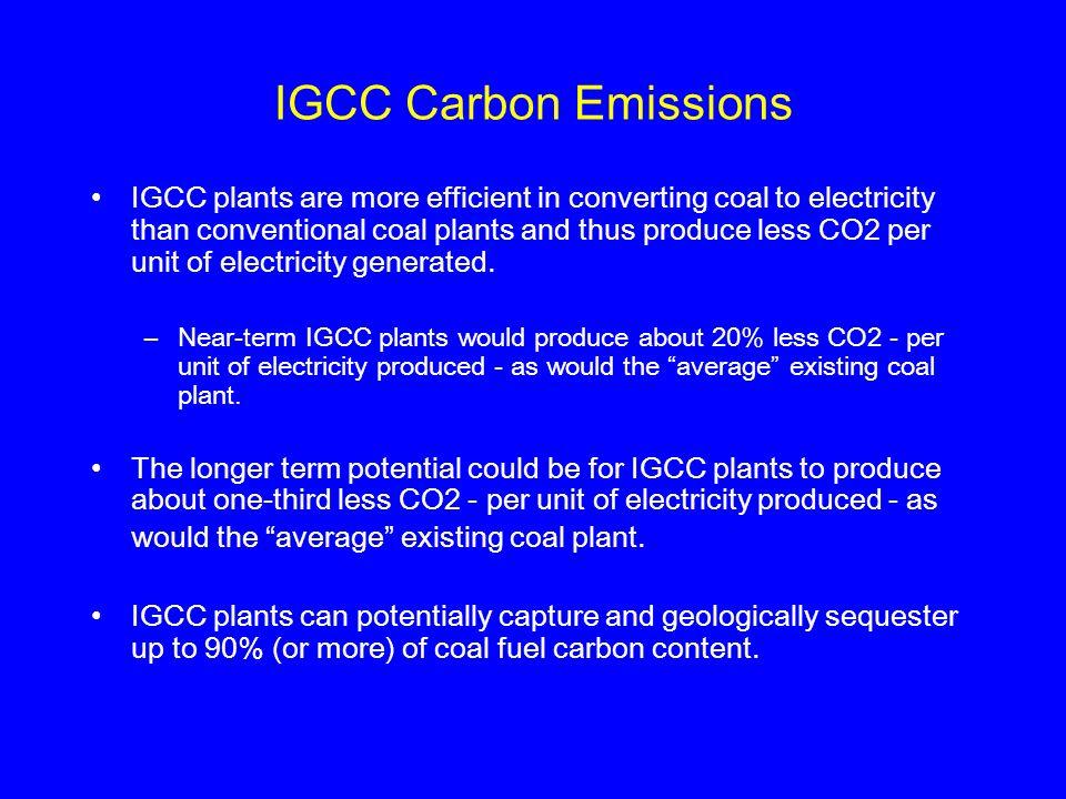 IGCC Carbon Emissions