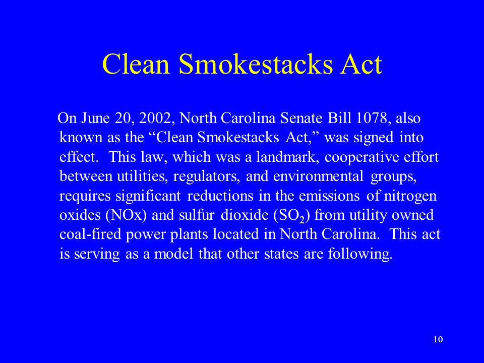 Clean Smokestacks Act