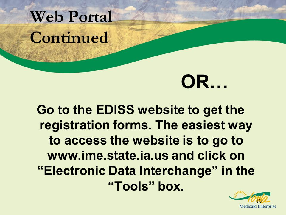 OR… Web Portal Continued