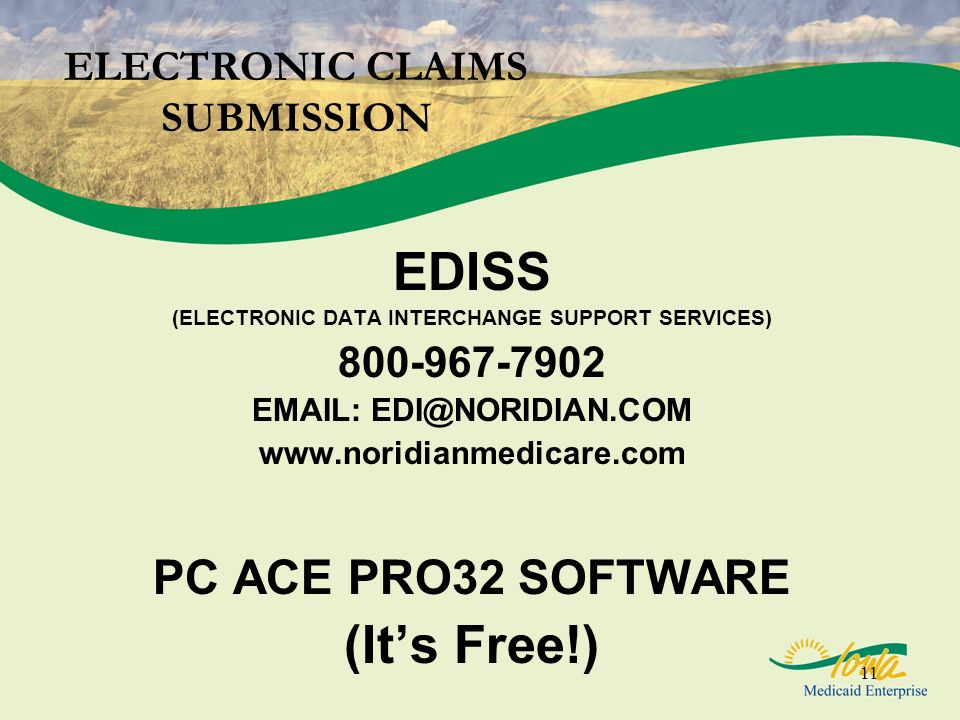 ELECTRONIC CLAIMS SUBMISSION