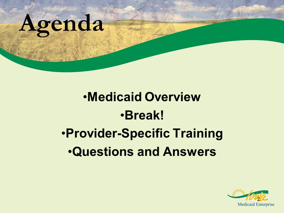 Provider-Specific Training